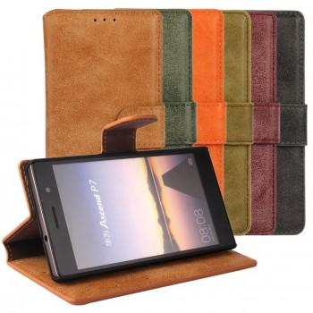 Винтажный чехол портмоне подставка на пластиковой основе с защелкой для Samsung Galaxy Core Prime