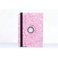Чехол подставка роторный с принтом Цветы для Ipad Pro Розовый