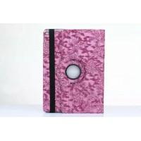 Чехол подставка роторный с принтом Цветы для Ipad Pro Фиолетовый