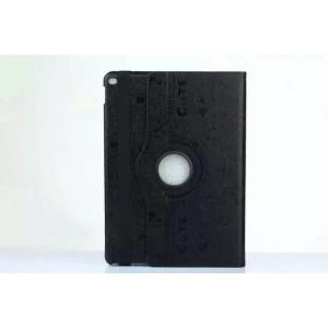 Чехол подставка роторный с рельефным принтом для Ipad Pro Черный