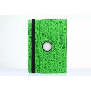 Чехол подставка роторный с рельефным принтом для Ipad Pro Зеленый