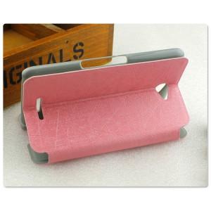 Текстурный чехол флип подставка на пластиковой основе с присоской для Sony Xperia E4