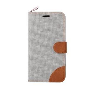 Текстурный чехол флип подставка на силиконовой основе с тканевым покрытием, отделением для карт и магнитной застежкой для Sony Xperia E4