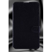 Текстурный чехол флип подставка на пластиковой основе с магнитной застежкой и отделением для карт для Sony Xperia E4 Черный