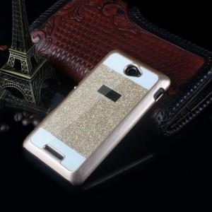 Пластиковый матовый непрозрачный чехол со светоотражающей аппликацией для Sony Xperia E4