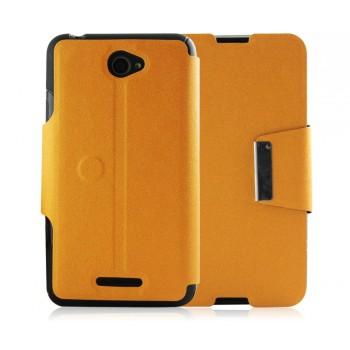Дизайнерский чехол флип подставка на силиконовой основе с дизайнерской магнитной застёжкой для Sony Xperia E4