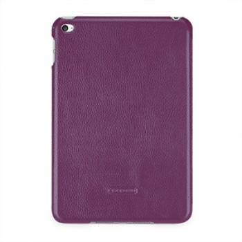 Кожаный чехол накладка (нат. кожа) серия Back Cover для Ipad Mini 4