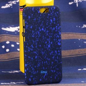 Пластиковый матовый дизайнерский чехол с голографическим принтом Звезды для HTC One A9 Синий