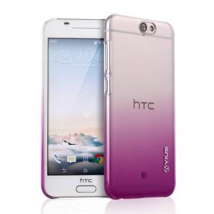 Пластиковый градиентный полупрозрачный чехол для HTC One A9 Фиолетовый