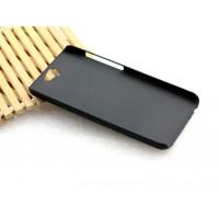 Пластиковый матовый Металлик чехол для HTC One A9 Черный