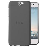 Силиконовый матовый полупрозрачный чехол для HTC One A9 Черный