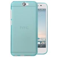 Силиконовый матовый полупрозрачный чехол для HTC One A9 Голубой