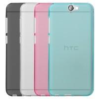 Силиконовый матовый полупрозрачный чехол для HTC One A9