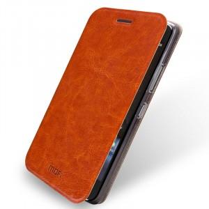 Чехол флип подставка водоотталкивающий для HTC One A9 Коричневый