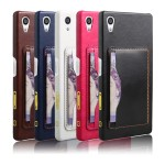 Дизайнерский чехол накладка с подставкой и отделениями для карт для Sony Xperia Z5 Premium
