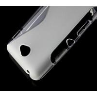 Силиконовый S чехол для Sony Xperia E4 Белый