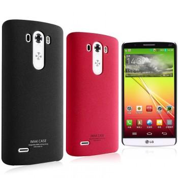 Пластиковый матовый чехол с повышенной шероховатостью для LG G3 (Dual-LTE)