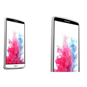 Металлический бампер для LG G3 (Dual-LTE) Белый