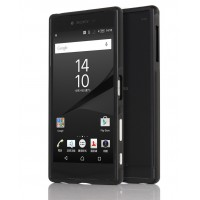 Металлический двухкомпонентный сборный бампер для Sony Xperia Z5 Черный