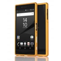 Металлический двухкомпонентный сборный бампер для Sony Xperia Z5 Premium Оранжевый