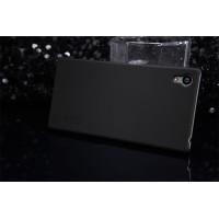 Пластиковый матовый нескользящий премиум чехол для Sony Xperia Z5 Premium Черный