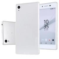Силиконовый матовый полупрозрачный премиум чехол повышенной защиты для Sony Xperia Z5 Premium Белый