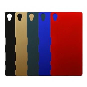 Пластиковый матовый Металлик чехол для Sony Xperia Z5 Premium