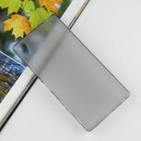 Силиконовый матовый чехол для Sony Xperia Z5 Premium Серый