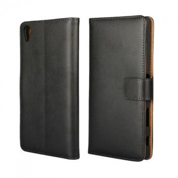 Чехол портмоне подставка с магнитной защелкой на пластиковой основе для Sony Xperia Z5 Premium