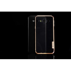 Силиконовый 0.3мм матовый премиум полупрозрачный чехол для Samsung Galaxy A8 Бежевый