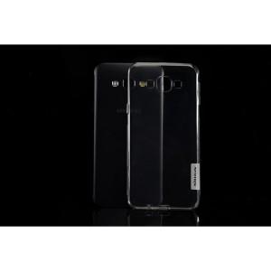 Силиконовый 0.3мм матовый премиум полупрозрачный чехол для Samsung Galaxy A8 Серый