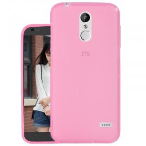 Силиконовый матовый полупрозрачный чехол для ZTE Blade X5 Розовый