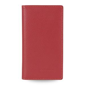 Кожаный чехол портмоне (нат.кожа) для Sony Xperia M2 dual Красный