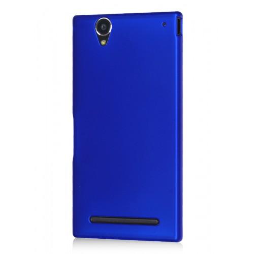 Пластиковый матовый металлик чехол для Sony Xperia T2 Ultra (Dual)
