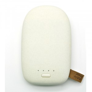 Портативное зарядное устройство с поверхностью повышенной шероховатости серия Pebble 10400 mAh Белый