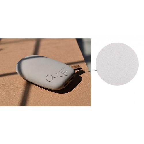 Портативное зарядное устройство с поверхностью повышенной шероховатости серия Pebble 10400 mAh