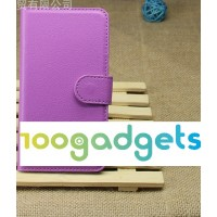 Чехол портмоне подставка для LG Optimus G2 Фиолетовый