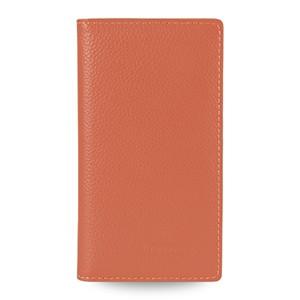 Кожаный чехол портмоне (нат.кожа) для Sony Xperia M2 dual Оранжевый