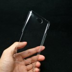 Пластиковый транспарентный чехол для Sony Xperia C