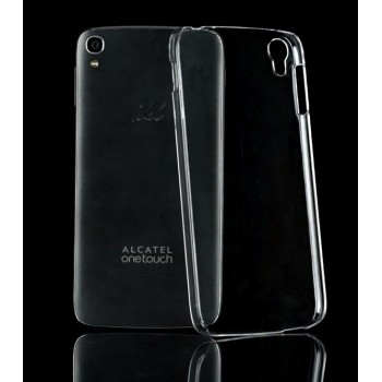 Прозрачный пластиковый чехол для Alcatel OneTouch Idol 3 (5.5)