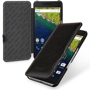 Кожаный чехол горизонтальная книжка (нат. кожа) с крепежной застежкой для Google Huawei Nexus 6P