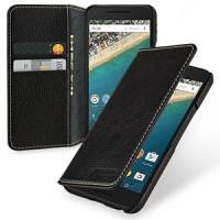 Кожаный чехол портмоне (нат. кожа) на кожаной основе для Google LG Nexus 5X