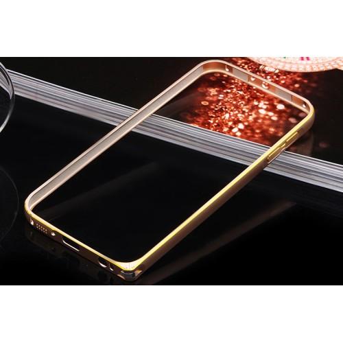 Металлический бампер с золотой окантовкой для ASUS Zenfone C