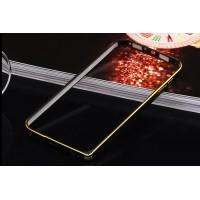 Металлический бампер с золотой окантовкой для ASUS Zenfone C Черный