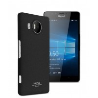 Пластиковый матовый чехол с повышенной шероховатостью для Microsoft Lumia 950 XL Черный