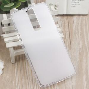 Силиконовый матовый полупрозрачный чехол для ZTE Axon Mini Белый