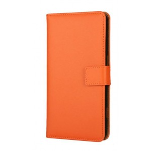 Чехол портмоне подставка с защелкой для Microsoft Lumia 950 XL Оранжевый