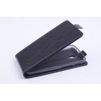 Чехол вертикальная книжка на силиконовой основе с магнитной застежкой для ASUS Zenfone C Черный