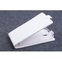 Чехол вертикальная книжка на силиконовой основе с магнитной застежкой для ASUS Zenfone C Белый