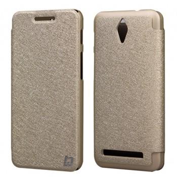 Текстурный чехол флип на пластиковой основе для ASUS Zenfone C